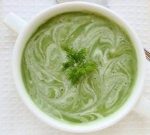 суп с брокколи и цветной капустой