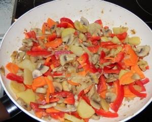 рецепт с фото картофель с овощами