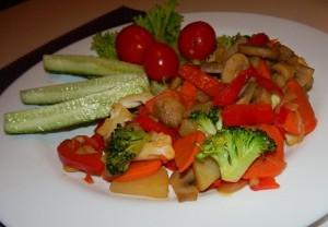 картошка с овощами фоторецепт